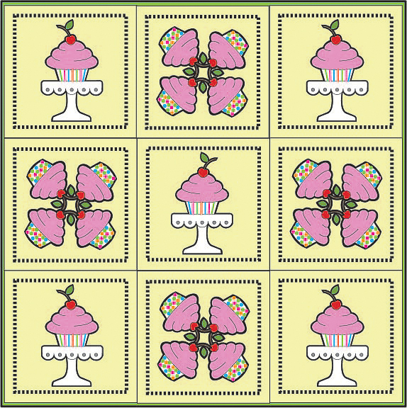 9 patch cupcake quilt