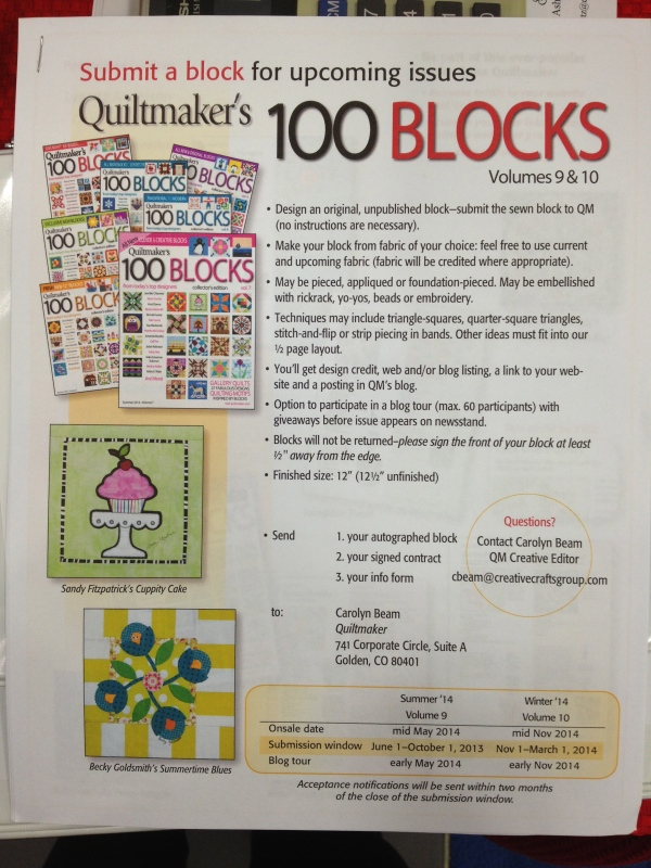 100 Blocks Flyer