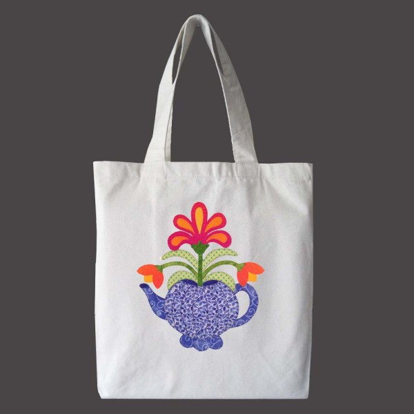 Tote bag with teapot