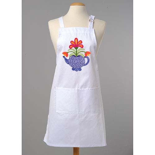 White Apron with teapot